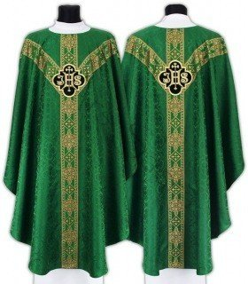 """Semi Gothic Chasuble """"IHS"""" GY209-Z25"""