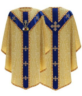 """Semi Gothic Chasuble """"Mystical Rose"""" GY828-AGN26"""