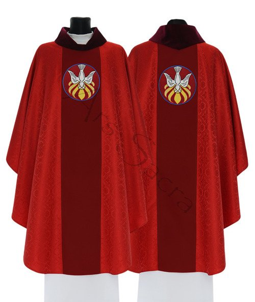 """Gothic Chasuble """"Holy Spirit"""" 742-GC16g"""