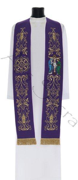 """Gothic stole """"Crucifixion"""" SH21-C"""