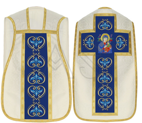 """Marian roman chasuble """"Our Lady of Perpetual Help"""" R450-KN25"""