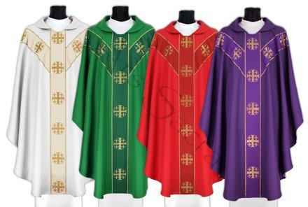 Set of 4 semi gothic chasubles SET-Y103
