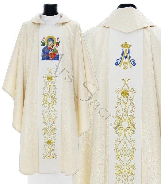 """Chasuble mariale """"Notre Dame du Perpétuel Secours"""" 408-GK54"""