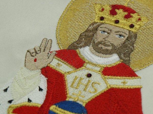 """Casulla romana """"Cristo el rey"""" R468-K25"""